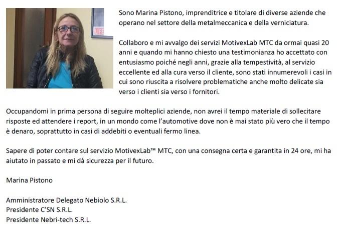 Testimonianza Marina Pistono MotivexLab
