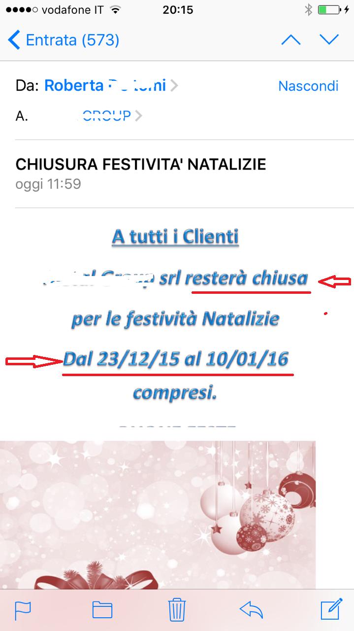 email concorrente