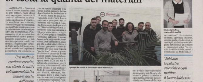 MotivexLab 21/01/2016 Articolo La Valsusa