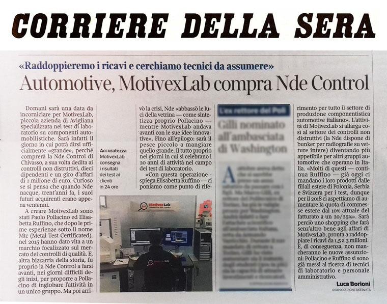 Il Corriere della Sera, 11 Febbraio 2018