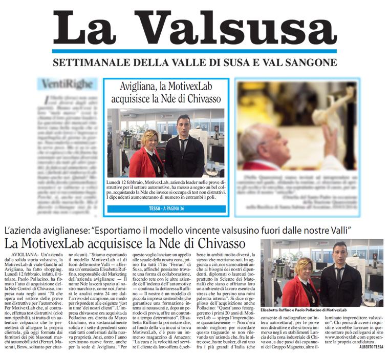 La Valsusa, 15 Febbraio 2018
