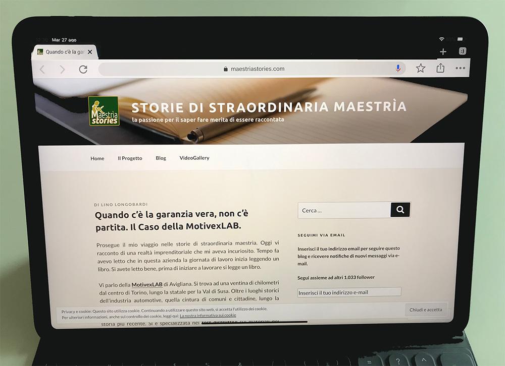 Storie di straordinaria maestria - articolo MotivexLab